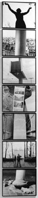 Lewis Koch Black and White Photograph - Totem of Unmeasurable Memory, 1995 Assemblage of 7 silver gelatin prints