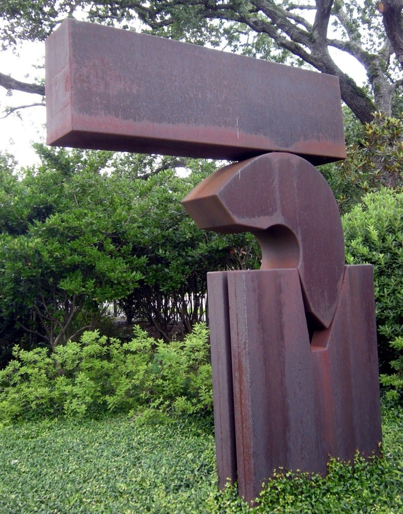 "Rare 1968 Sculpture ""Open Suspense"" - Gray Abstract Sculpture by Menashe Kadishman"