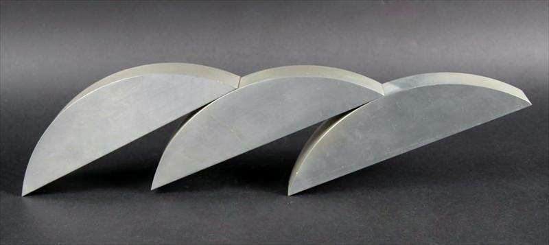 60s Kadishman Israeli sculpture in steel or aluminum Suspension - Modern Sculpture by Menashe Kadishman