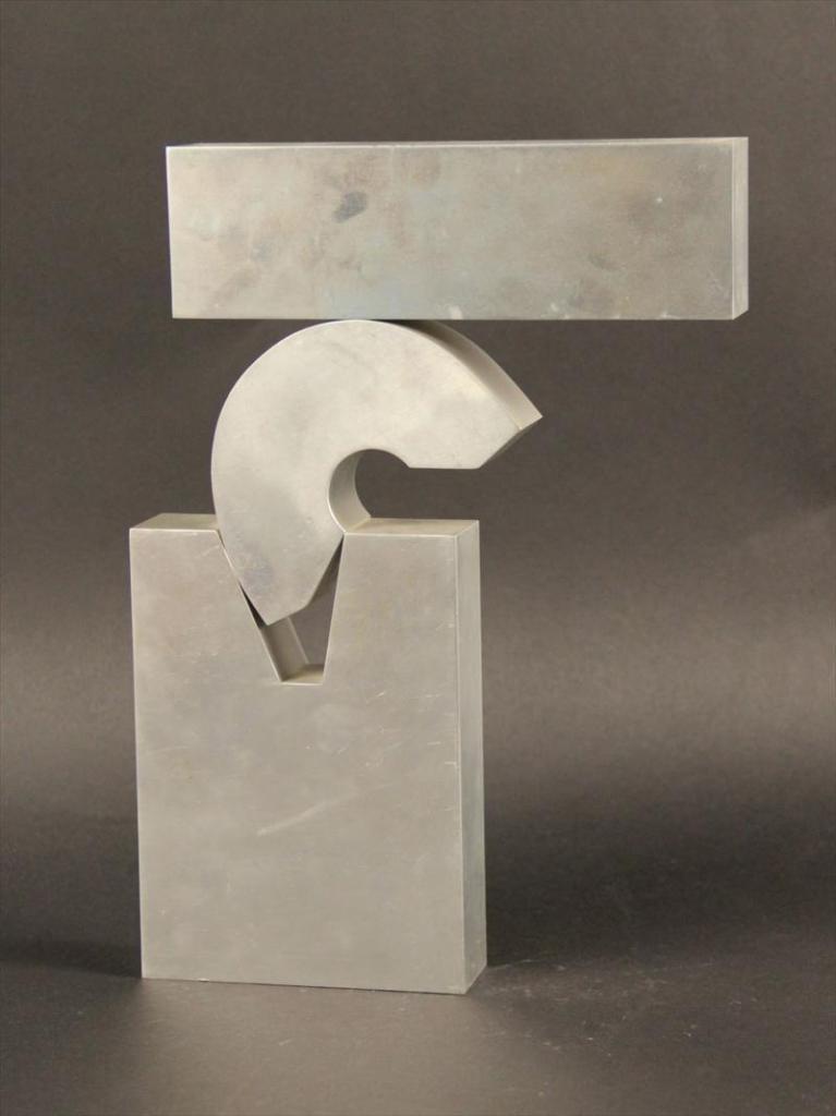 """Menashe Kadishman Abstract Sculpture - Rare 1968 Sculpture """"Open Suspense"""""""
