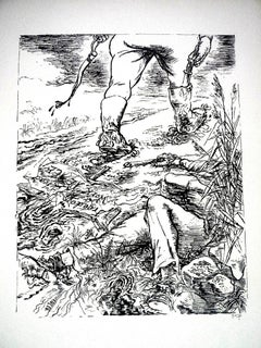 """1936 Lithograph """"Freedom"""" small edition"""