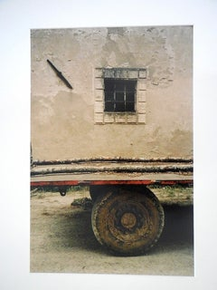 Tuscany, Window, 1996 Large Vintage Color Photograph C Print Signed