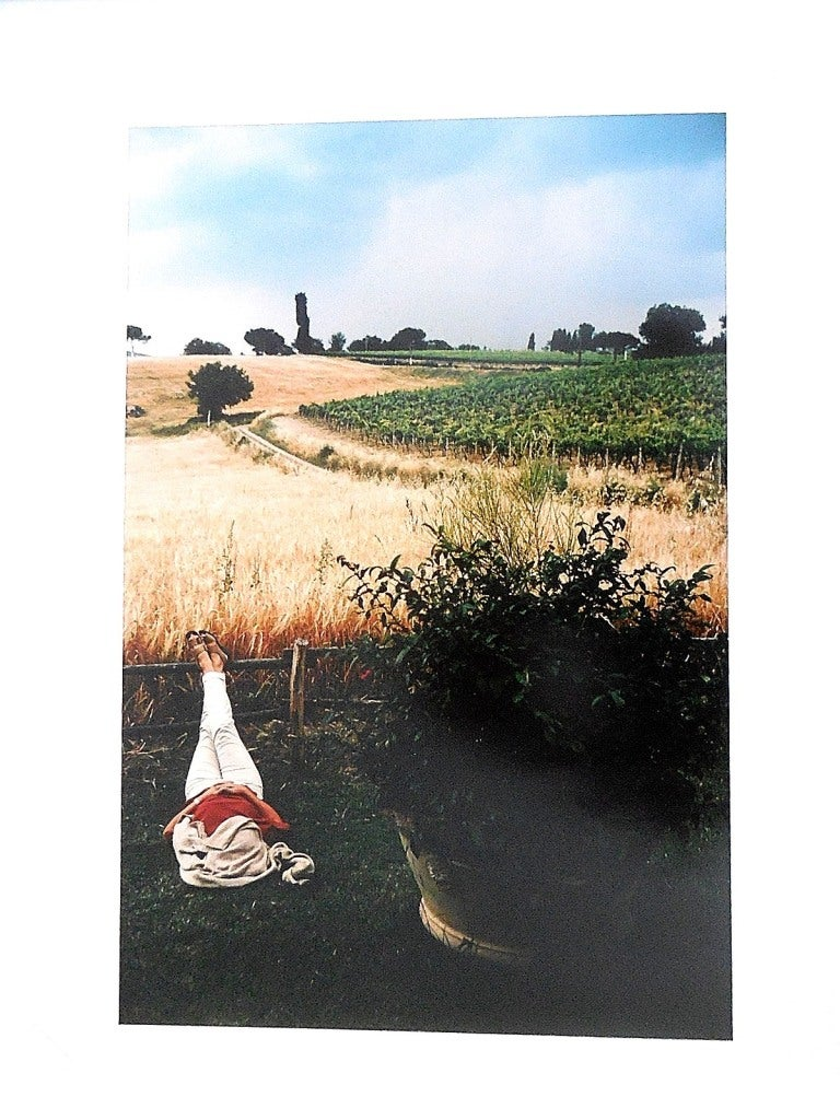 Tuscany, Sleeping Woman, 1996 Large Vintage Color Photograph C-Print Signed