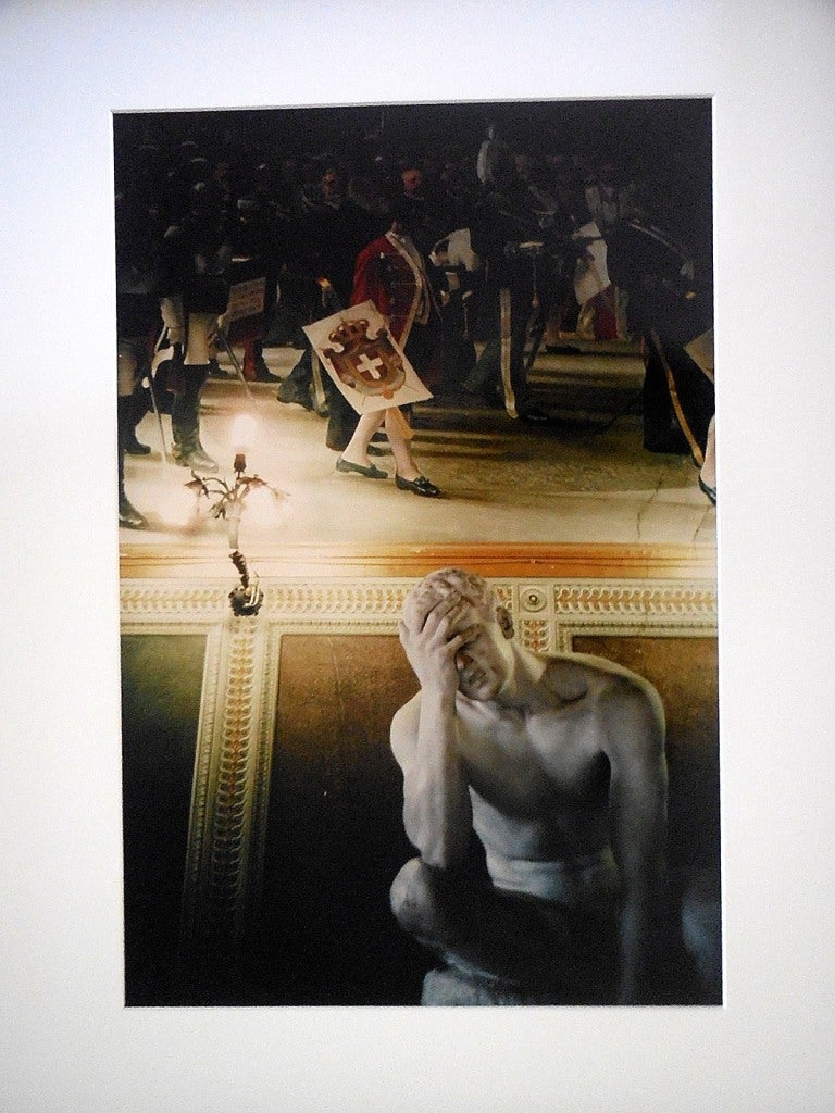 Joel Meyerowitz Figurative Photograph - Tuscany, Statue, Siena 1996