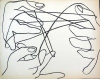 Cats Cradle,  Original French Mourlot Modernist Lithograph 1950s