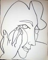 Portrait head of a Woman Lithograph