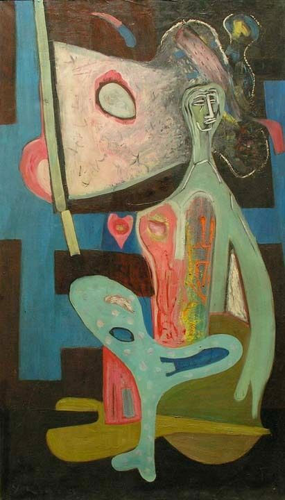 Yehoshua Kovarsky Abstract Painting - Untitled