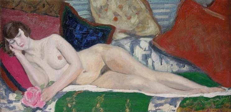 Jacqueline Marval Nude Painting - Nu Allonge