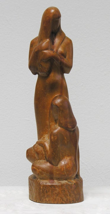 Unique wood carving by American