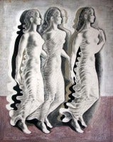 Three Women in Profile