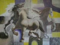 Horses, Yellow and Lavender