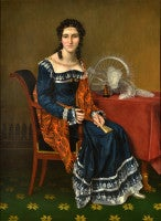 Portrait of a Lady by Francois Joseph Kinsoen. Oil painting on canvas