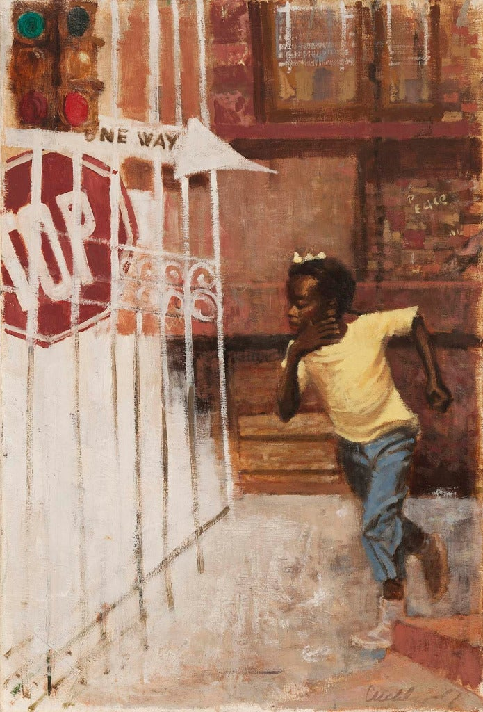 Ernest Crichlow Untitled One Way Painting At 1stdibs