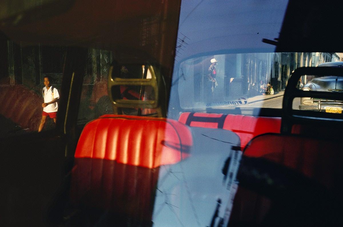 Alex Webb Havana 2000 Red Car Seats Photograph At