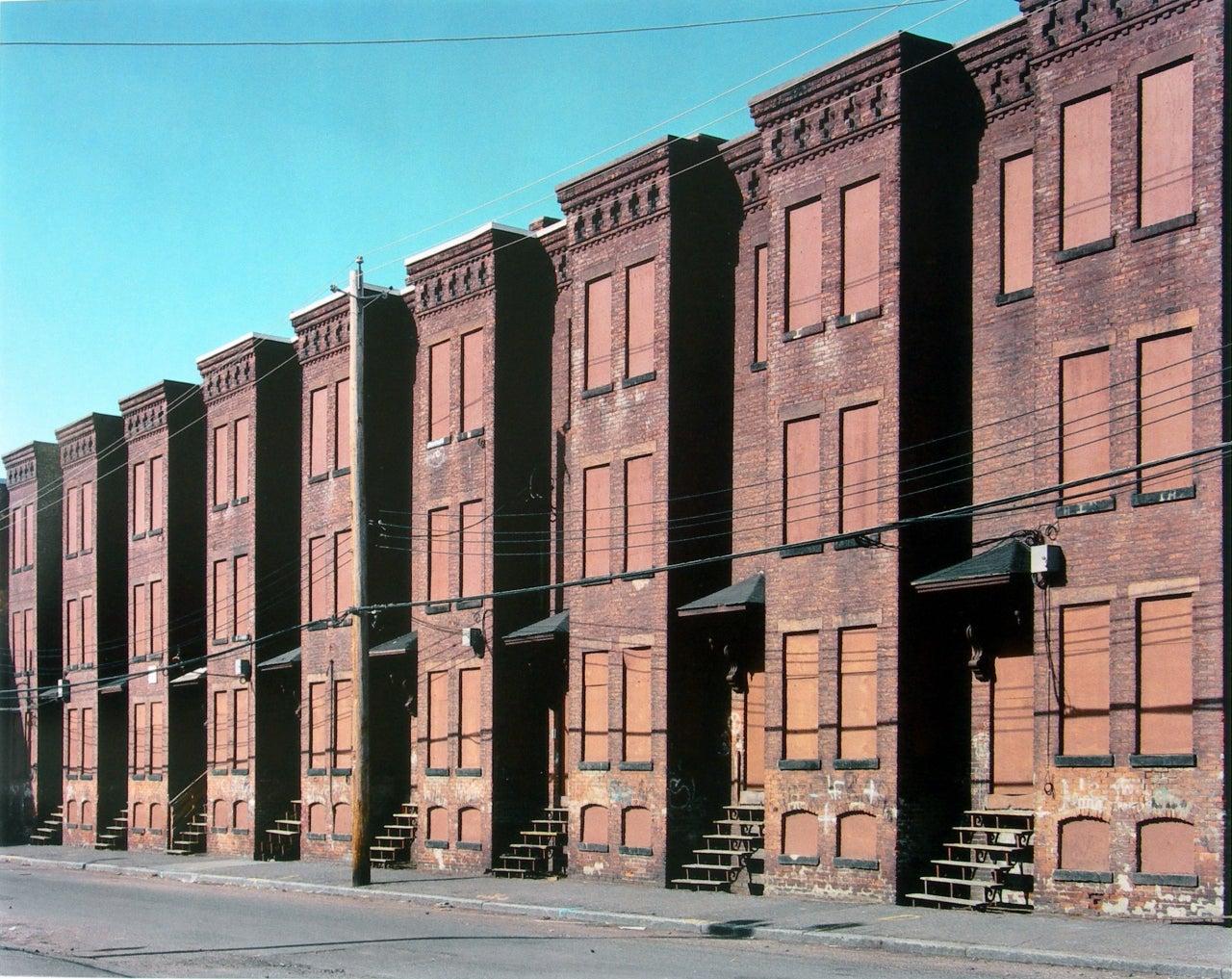 Mitch epstein newton street row houses brownstone for Brownstone liquidators