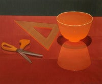 Orange Glass Bowl