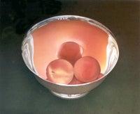 Peaches in Silver Bowl