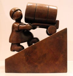 Woman with Oil Barrel