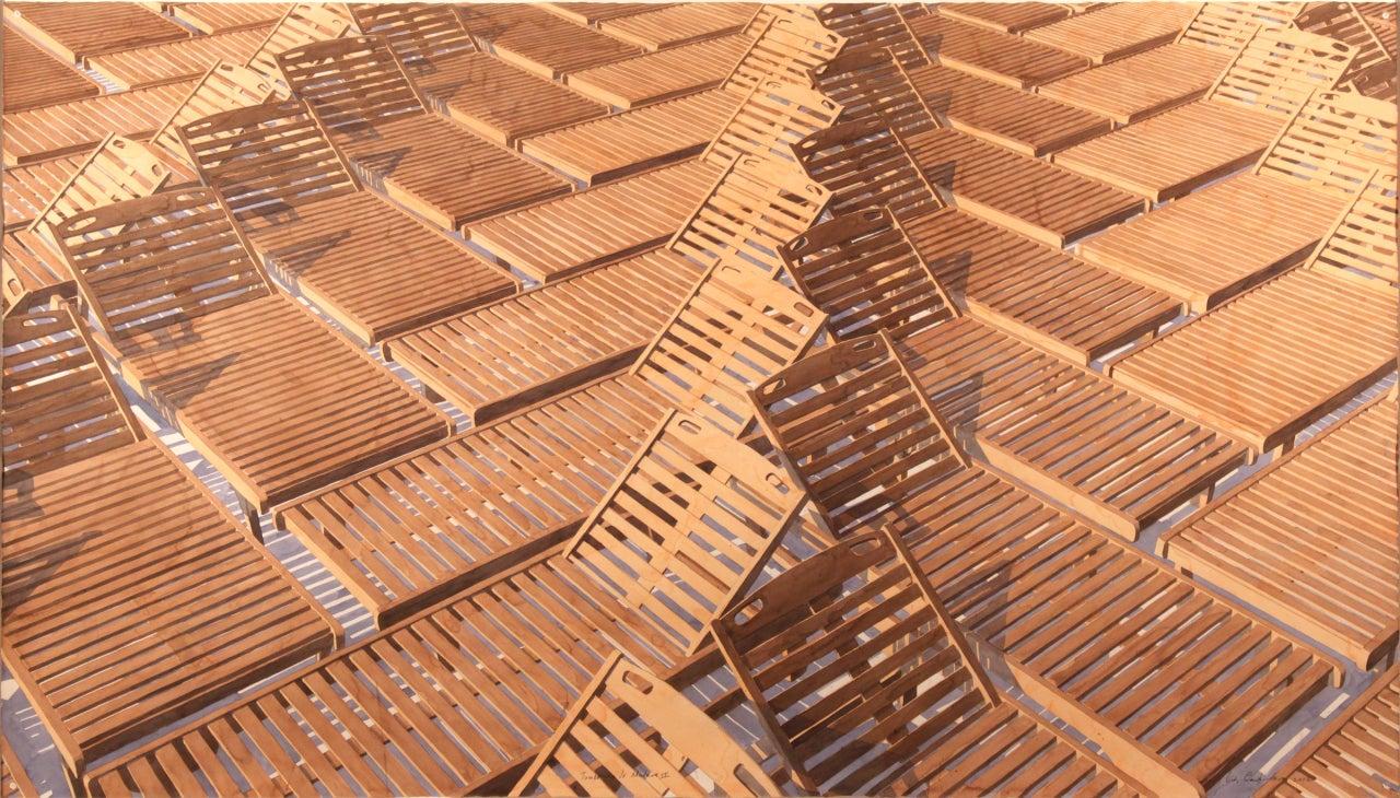 Los carpinteros tumbonas de madera ii at 1stdibs - Tumbonas de madera ...