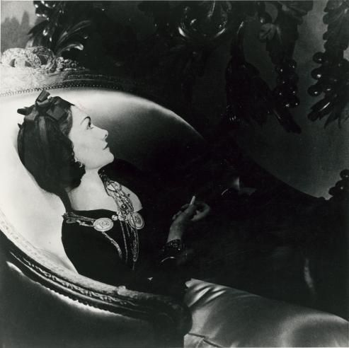 horst p horst coco chanel reclining photograph at