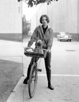 Audrey Hepburn; On her Bike with Her Famous Dog at Paramount Studios, 1957