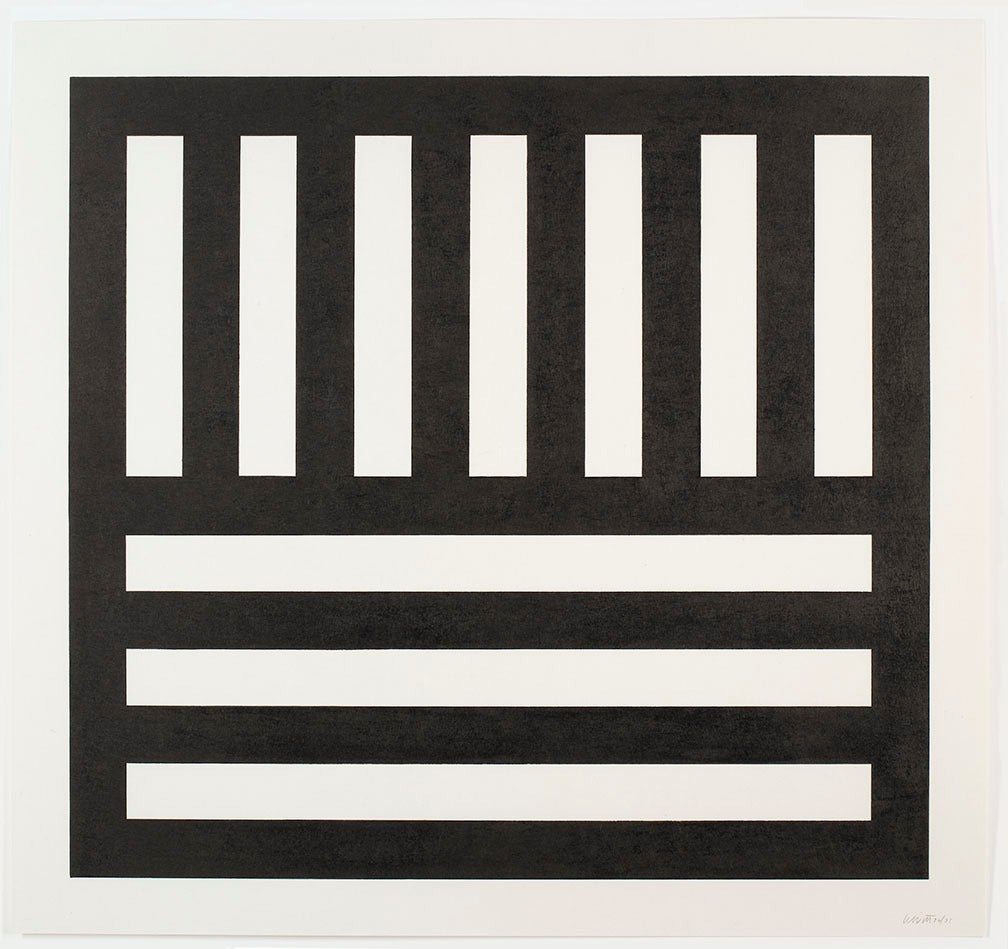 Black Bands in Two Directions - Print by Sol LeWitt