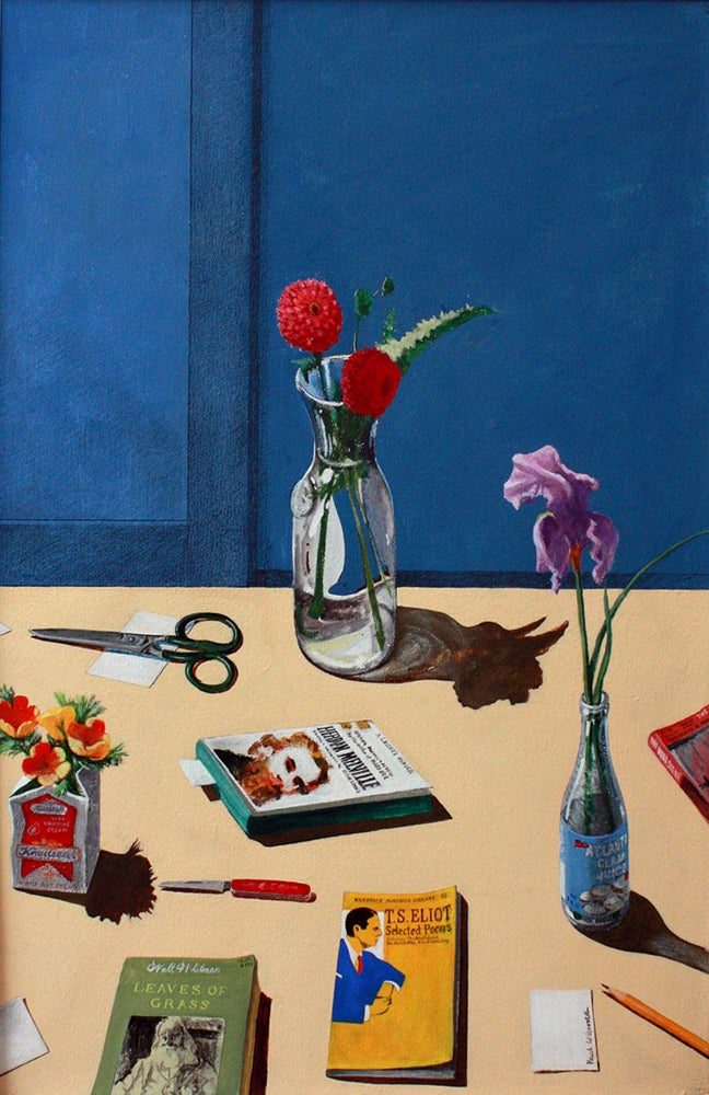 Paul Wonner Study For Still Life With Flowers And