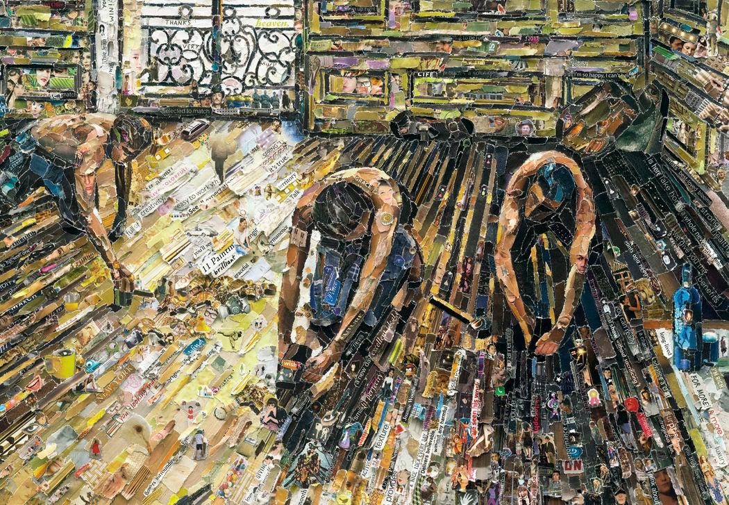 Vik Muniz - Floor Scrapers, after Gustave Caillebotte ...