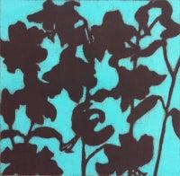 lillies (burgundy + torquoise)