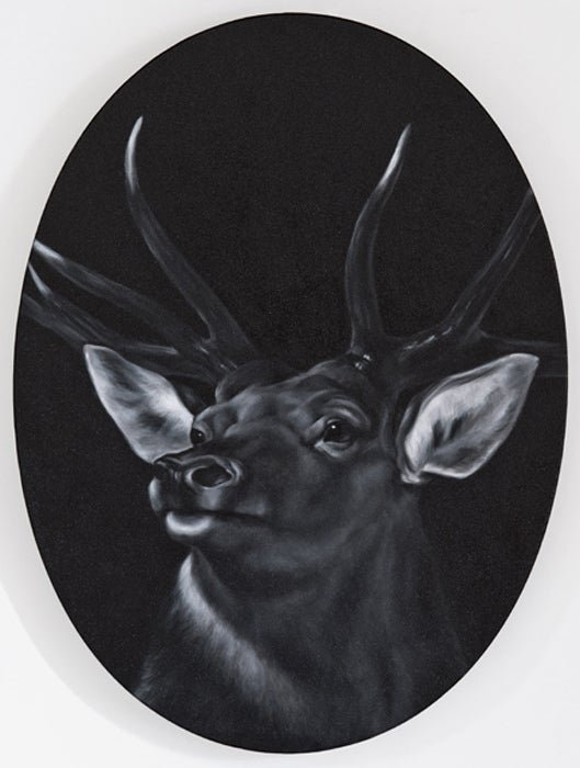 Shelley reed stag after landseer painting at 1stdibs for Hendrickson s fine jewelry
