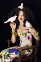Andrea Mary Marshall - Self Portrait as Gia Condo with Dove Trinity