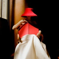 Woman in Red Hat with Book, New York Public Library, New York City, 2003