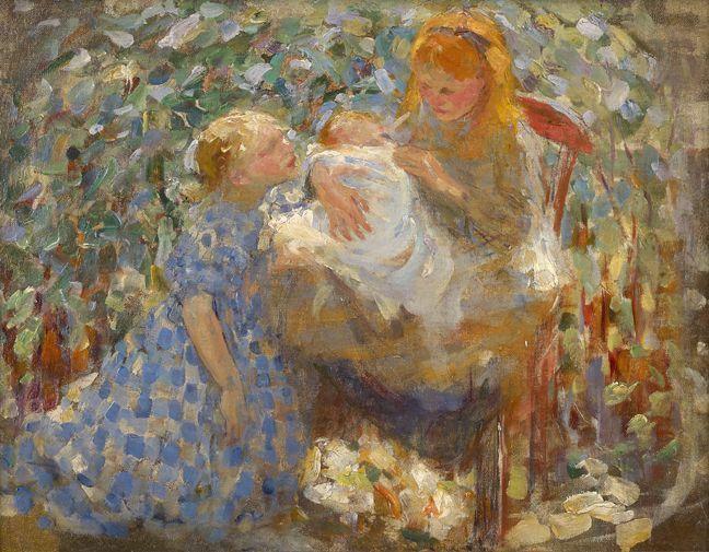 Joseph Raphael Three Children Laren Painting At 1stdibs