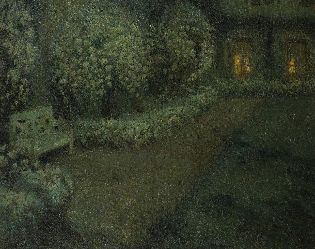 Henri le sidaner le jardin blanc au clair de lune for Jardin lune