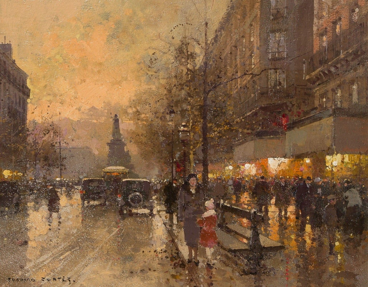 Place de clichy paris by dusk at 1stdibs for Place de clichy castorama