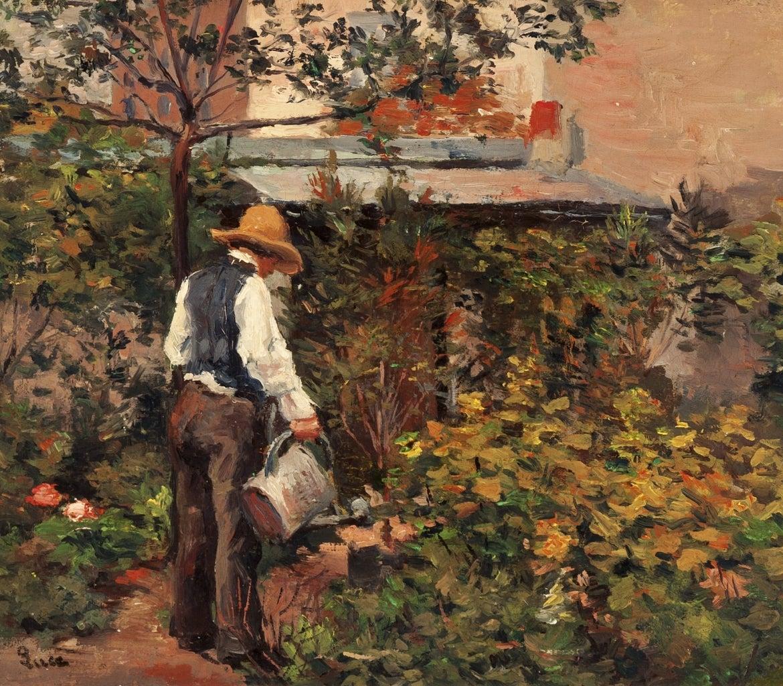 Maximilien luce le pere bail dans son jardin a bois le for Bruler dans son jardin