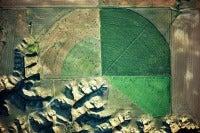 Marias River Drainage And Pivot Irrigator, Loma Area, Montana, USA, 1991
