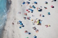 Beach Sunning, Spiagge Beach, Rosignano Marittimo, Italy, 2007