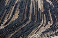 Loaded Coal Train Cars, Norfolk, Virginia, USA, 2011