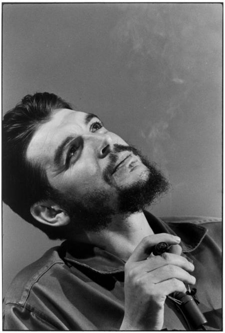 Che Guevara, Havana, 1964 - Elliott Erwitt (Black and White Photography) Signed, inscribed with title and dated on accompanying artist's label Silver gelatin print, printed later  Available in four sizes: 11 x 14 inches 16 x 20 inches 20 x 24