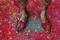 A Villager Participating in the Festival of Holi, Rajasthan, India, 1996