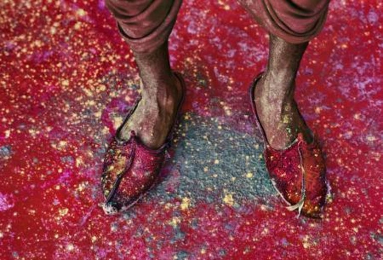 Steve McCurry Color Photograph - A Villager Participating in the Festival of Holi, Rajasthan, India, 1996