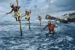 Fishermen, Weligama, South Coast, Sri Lanka, 1995  - Colour Photography