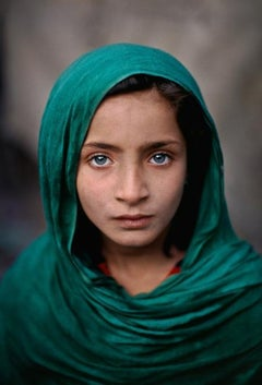Girl With Green Shawl, Peshawar, Pakistan, 2002 - Portrait Photography