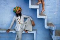 MAN BENEATH STAIRS, JODHPUR, INDIA, 2005