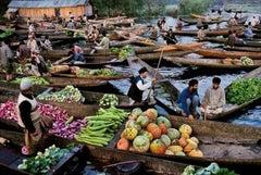 Market Vendors on Dal Lake, Kashmir, 1999