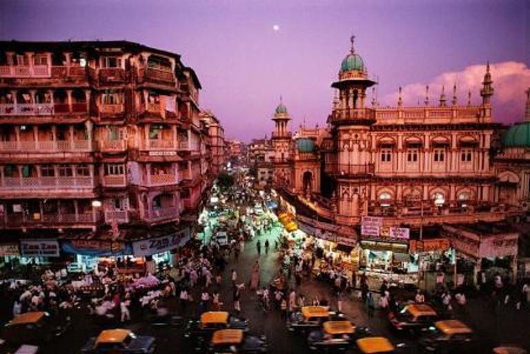 Steve McCurry Landscape Photograph - Moonrise in Mumbai, India, 1994
