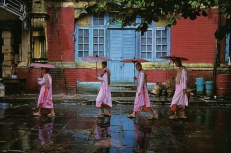 Steve McCurry Figurative Photograph - Procession of Nuns, Rangoon, Burma, 1994 - Colour Photography