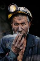 Smoking Coal Miner, Pol-E-Khomri, Afghanistan, 2002