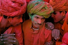 Villagers Participating in the Holi Festival, Rajasthan, India, 1996
